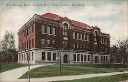 The George Davis Science Hall, Knox College Postcard