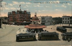 Lincoln Square From N.E. Corner Postcard