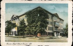Decatur High School Postcard