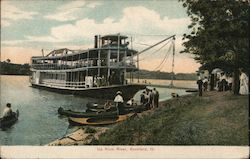Up Rock River Rockford, IL Postcard