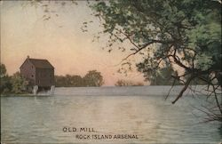 old mill, rock island arsenal Postcard