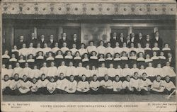 Vested Choirs - First Congregational Church Postcard