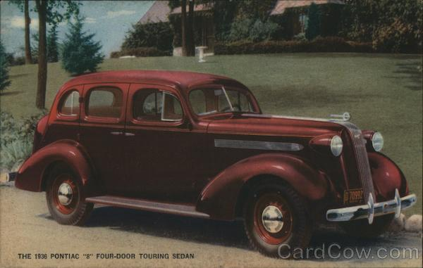 The 1936 Pontiac 8 Four-Door Touring Sedan Cars