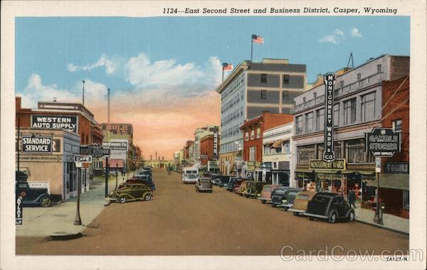 East Second Street and Business District, Casper, Wyoming.