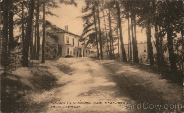 Academie Ste Chretienne, Salem, Massachusetts. Avenue-Driveway