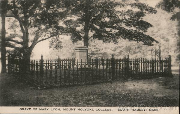 Grave of Mary Lyon, Mount Holyoke College South Hadley Massachusetts