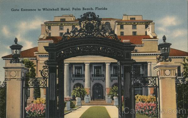 Gate Entrance to Whitehall Hotel Palm Beach Florida