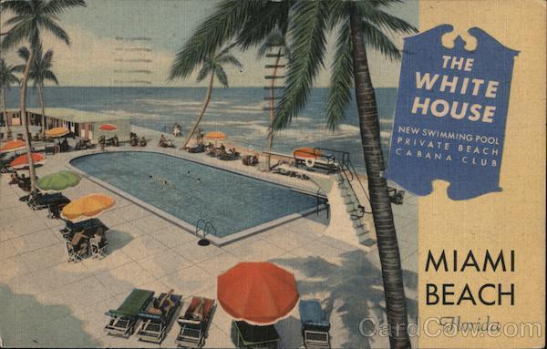 The White House, Miami Beach, Florida. New swimming pool. Private beach. Cabana club.
