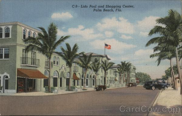 Lido Pool and Shopping Center Palm Beach Florida