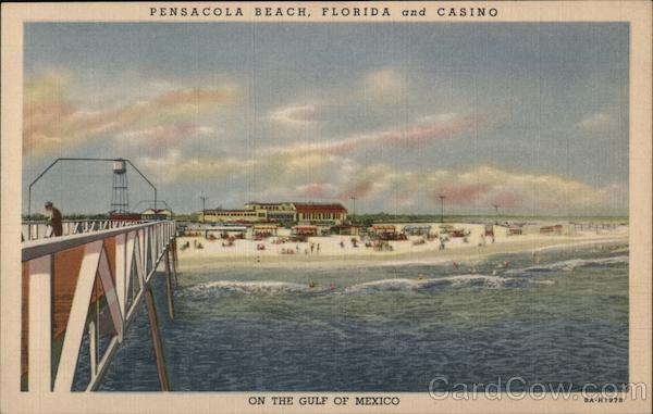 Pensacola Beach, Florida and Casino. On the Gulf of Mexico