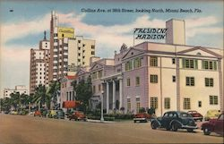 Collins Ave. at 38th Street, looking North, Miami Beach, Fla Postcard