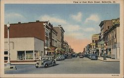 View of East Main Street Postcard