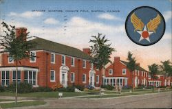 Officers' Quarters, Chanute Field, Rantoul, Illinois Postcard