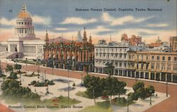 Central Park, Capitol, Opera House Postcard