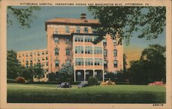 Pittsburgh Hospital, Frankstown Avenue and Washington Blvd. Pittsburgh, PA.