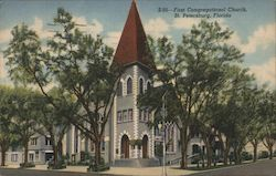 First Congregational Church, St. Petersburg, Florida Postcard