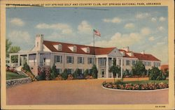 Club House, Home of Hot Springs Golf and Country Club Postcard