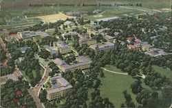 Airplane View of University of Arkansas Campus