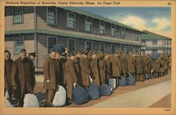 Soldiers Reporting at Barracks on Cape Cod