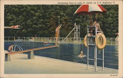 Swimming Pool at Lake Ft. Smith on U.S. Highway 71