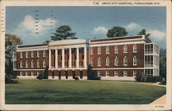 Druid City Hospital, Tuscaloosa, Ala. Postcard