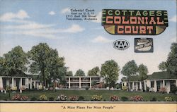 "Colonial Court. East on U.S. 11. 2715 East 9th Street. Tuscaloosa, Alabama. ""A nice place for nice people"" Postcard"