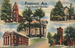 Florence, Ala. City of beautiful churches Postcard