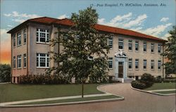 Post Hospital, Ft. McClellan, Anniston, Ala. Postcard