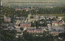 Aerial view of Main campus section, Alabama Polytechnic Institute, Auburn, Ala.