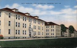 Main Barracks, Fort McClellan, Anniston, Ala. Postcard