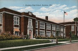 Anniston High School, Anniston, Ala. Postcard