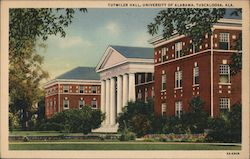 Tutwiler Hall, University of Alabama, Tuscaloosa, Ala. Postcard