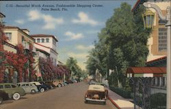 Beautiful Worth Avenue, Fashionable Shopping Center, Palm Beach, Fla.