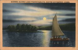Scenes along Lake Wangumbaug, South Coventry, Conn. Postcard