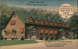 Sleepy Hollow - Where Old Friends Meet Postcard