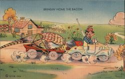 Bringin' Home the Bacon Postcard