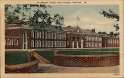 Granby Street High School. Norfolk, Va. Postcard