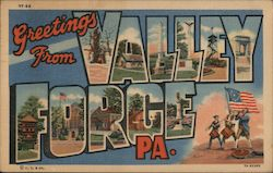 Greetings from Valley Forge, PA. Postcard