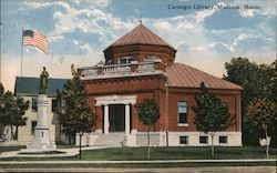 Carnegie Library, Madison, Maine Postcard