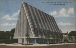 The Masonic Temple of the Masonic Homes Postcard