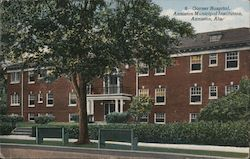 Garner Hospital, Anniston Municipal Institution Postcard