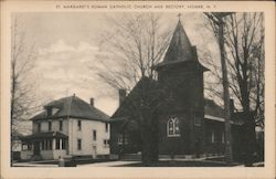 St. Margaret's Roman Catholic Church and Rectory Postcard