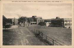 Sun porch and children's wing, St. Luke's Convalescent Hospital, Port Chester, N.Y.