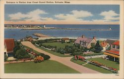 Entrance to Harbor from Coast Guard Station Postcard