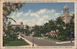 Sunrise Avenue, Looking toward Palm Beach Biltmore Hotel