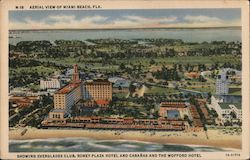 Aerial View of Miami Beach Postcard