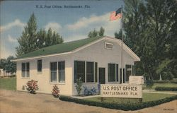 U.S. Post Office, Rattlesnake, Fla. Postcard