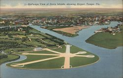 Bird's-eye view of Davis Islands, showing Airport, Tampa, Fla.