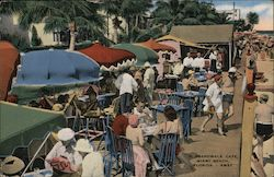 A Boardwalk Cafe, Miami Beach, Florida Postcard