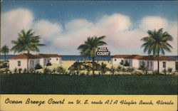 Ocean Breeze Court on U.S. route A1A Flager Beach, Florida
